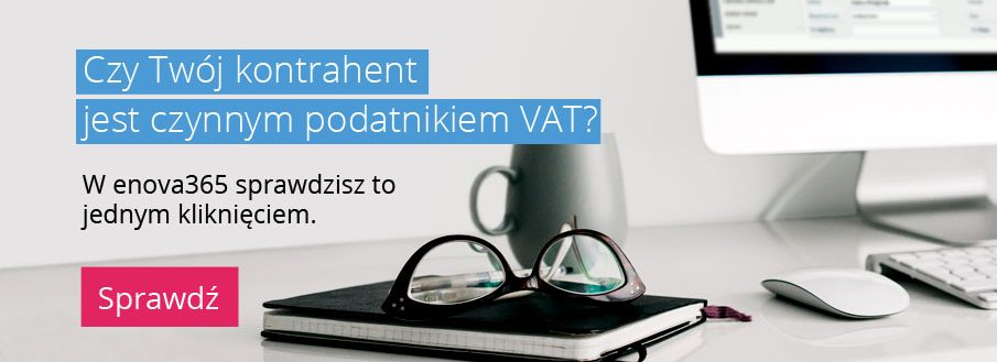 enova sprawdzeni podatnik VAT czynny slider