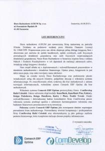Referencje Biuro Rachunkowe Aurum