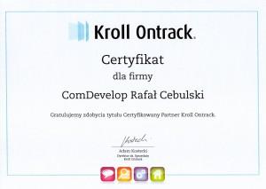 kroll ontrack certyfikat