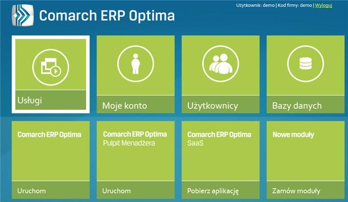 Comarch ERP Optima w modelu usługowym